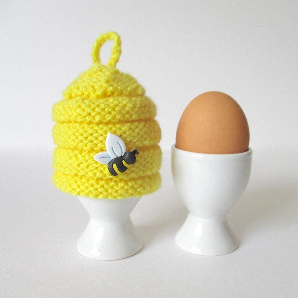 Beehive Egg Cosy Knitting pattern by Amanda Berry