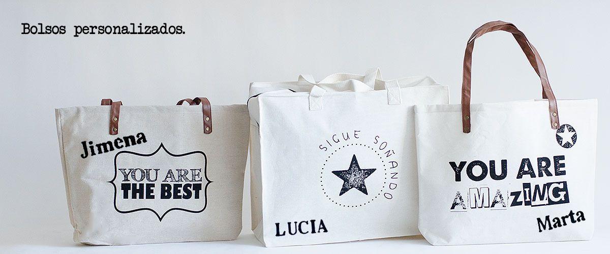 6c4b39dae Bolsos de lona, personalizados con mensaje divertido. Más novedades en  nuestra web.