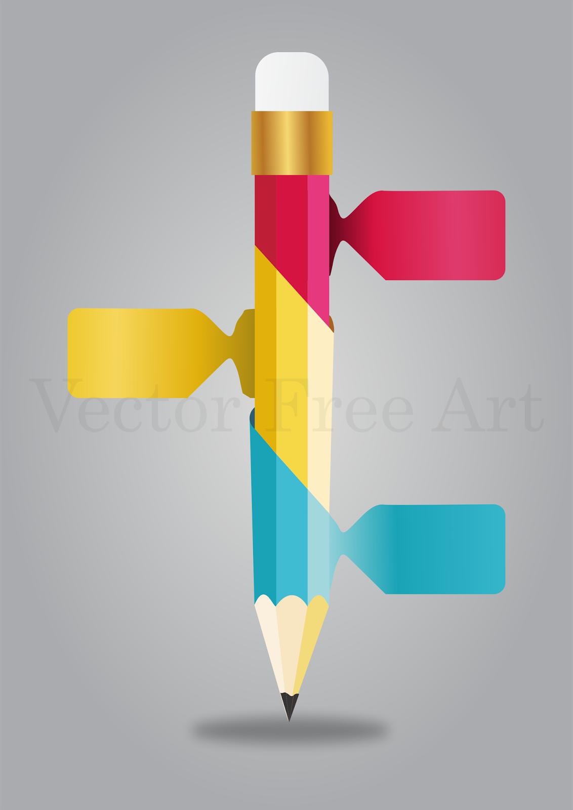 Free Vektor: Pencil Info Graphic Vector | Chart Design | Pinterest
