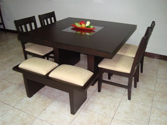 Comedor para 8 personas 04 sillas 02 bancas lindas ideas pinterest interiors and room - Bancas para comedor ...