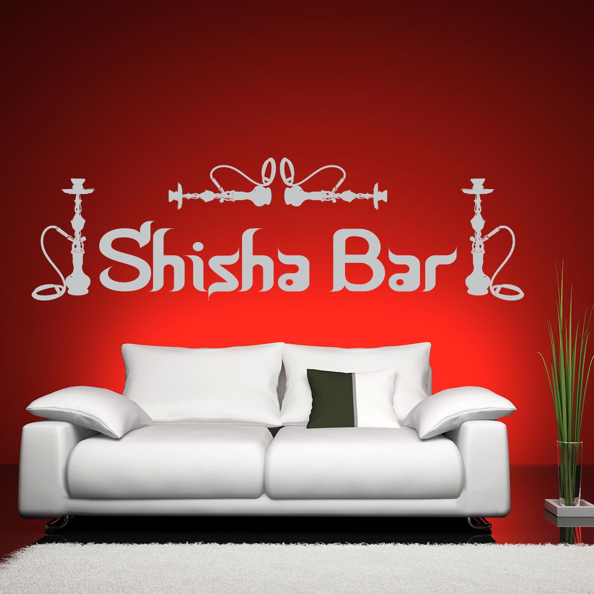 Epic Shisha Bar Individuelle Wandtattoos f r Ihre Wanddekoration Fraben verschiedene Gr en