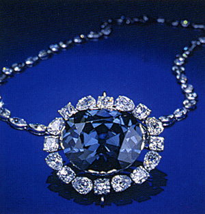 Hope Diamond, Vivid Blue Diamond  7.03ct fancy vivid Blue, internally Flawless 9.5million dollars