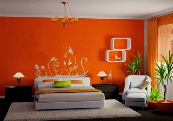 15 Magnificos Dormitorios Con Paredes En Color Naranja Decoracion Dormito Diseno Interior De Dormitorio Decoracion De Dormitorio Matrimonial Decoracion Hogar