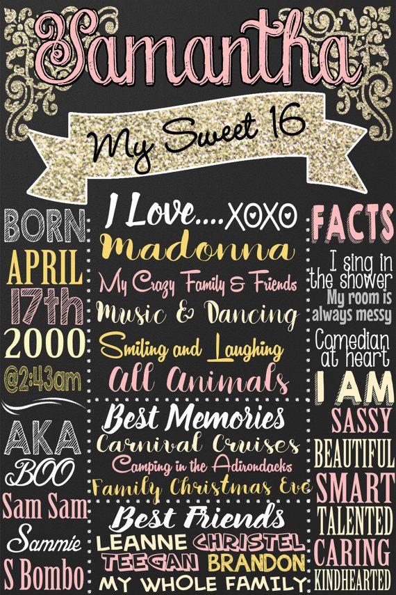 16th Birthday Girl Sweet 16 Birthday Gifts Unique Gifts For Etsy Sweet 16 Birthday Gifts 16th Birthday Sweet 16 Birthday