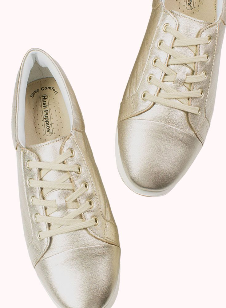I Cannot Get Enough Of Hush Puppies Ravello The Champagne Metallic Leather Is A Softer Approach To The Gold Making Thi Metallic Shoes Shoes Hush Puppies Shoes