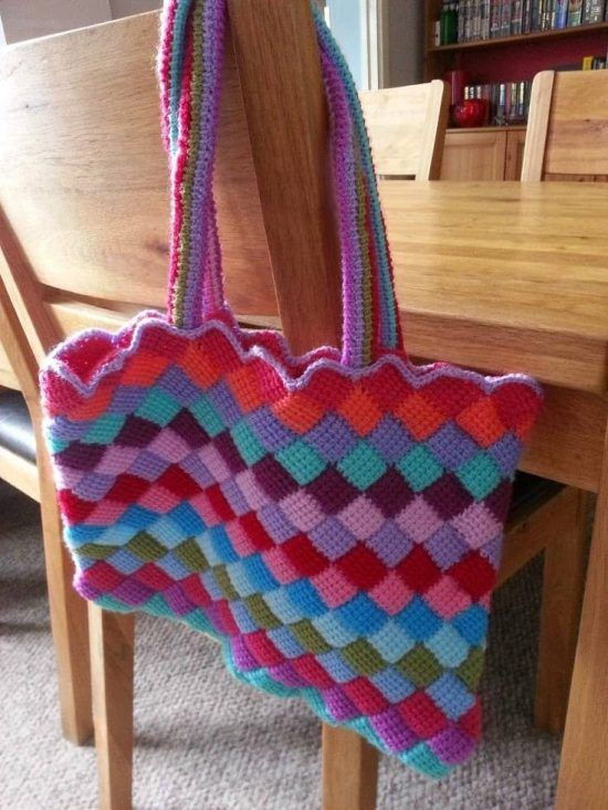 Crochet Tote Bag Best Free Patterns Pinterest Tunisian Crochet