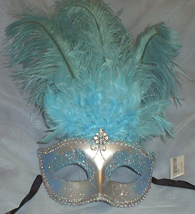 Light blue silver venetian feather masquerade mask aqua one of light blue silver venetian feather masquerade mask aqua one of the girls would adore this solutioingenieria Gallery