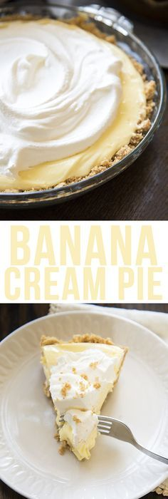 Banana Cream Pie - Like Mother Like Daughter #bananapie