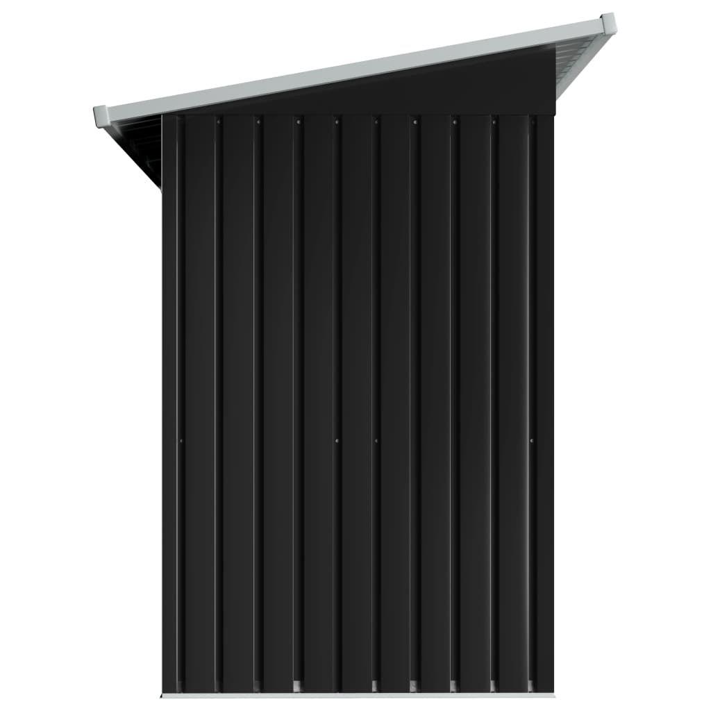 ZUN Garden Shed Anthracite Steel 47026