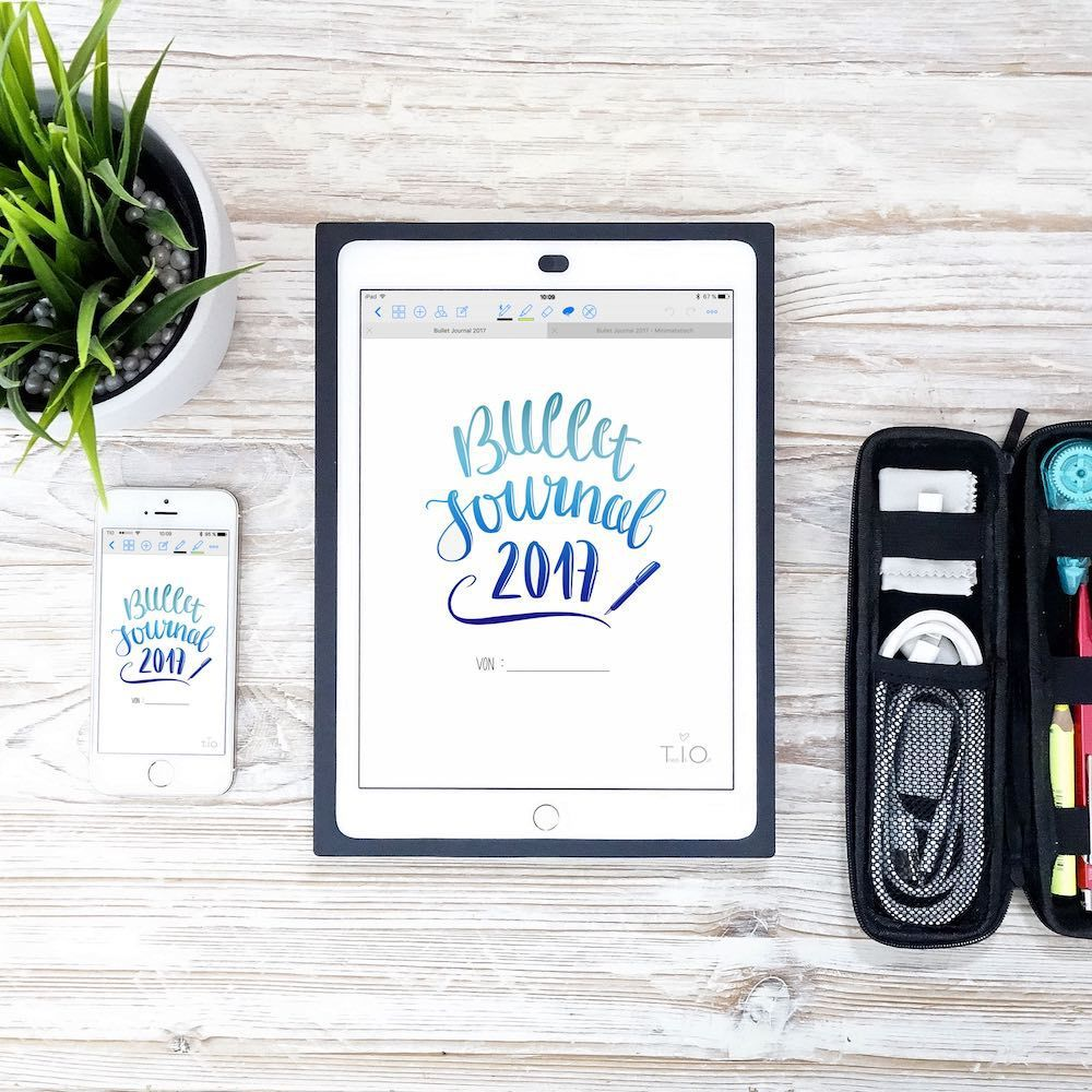 Bullet journal on the iPad with GoodNotes [Tech | Planner