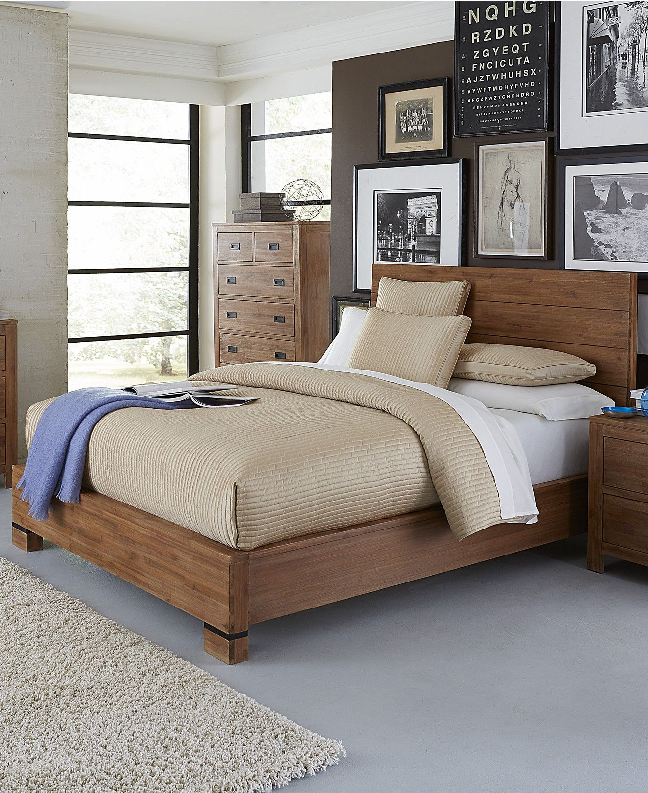 Champagne king bed beds headboards furniture macy