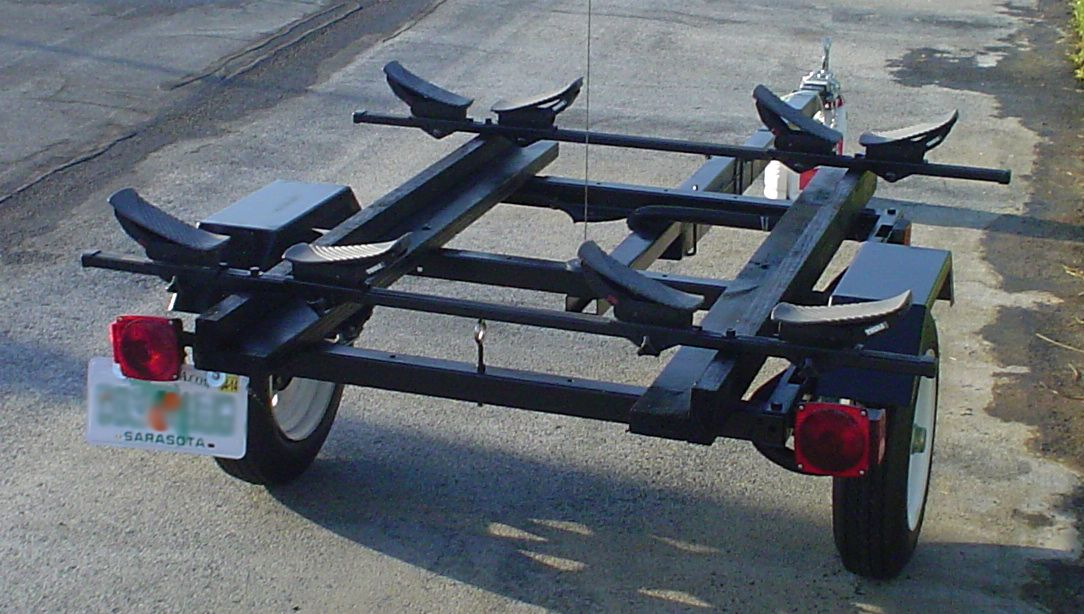 Kayak and canoe trailer projects harbor freight utility for Harbor freight fishing cart