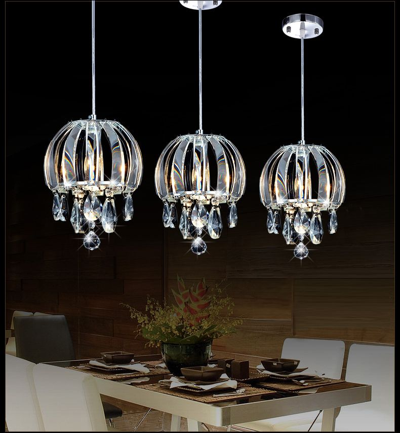 Modern Pendant Lamp Crystal Kitchen Lighting Contemporary Island Lights Led Indoor China Mainland