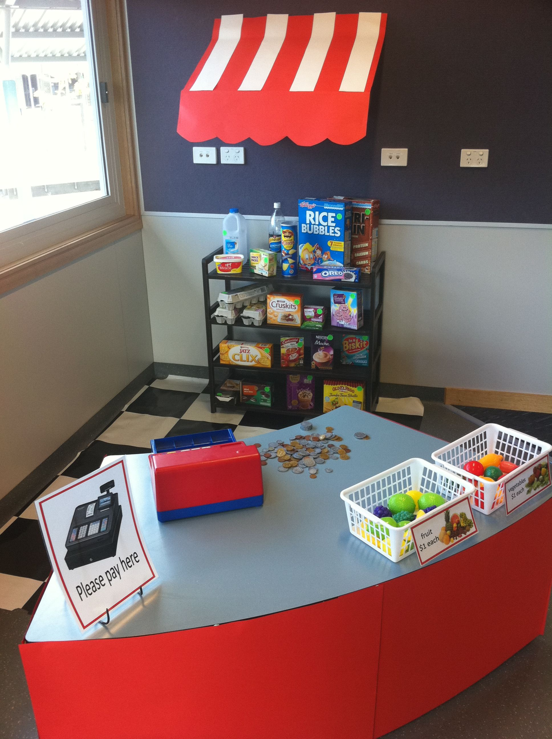 Classroom Decorations Store ~ Classroom shop corner store role play area my