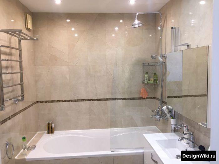 дизайн маленькой ванной комнаты без унитаза 5