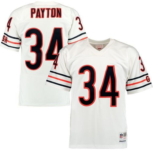 e9908823a Men s Mitchell   Ness Walter Payton White Chicago Bears Retired Player  Replica Jersey