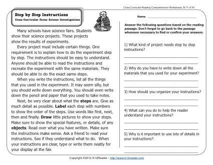 Step By Step Instructions 2nd Grade Reading Comprehension Worksheets Comprehension Worksheets Reading Comprehension 2nd Grade Reading Comprehension Reading aloud worksheets pdf