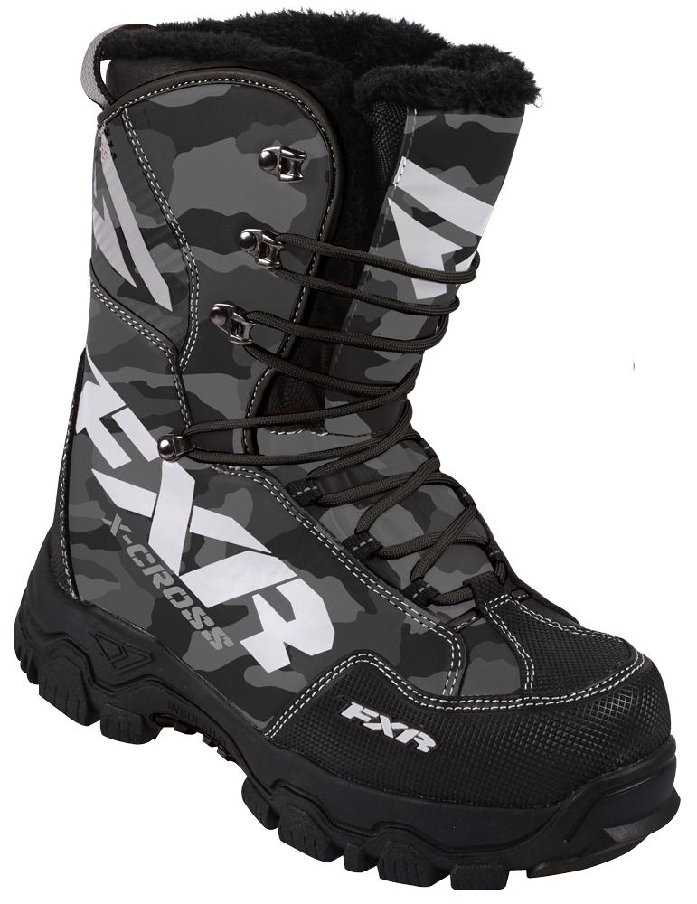 FXR X Cross Boot Grey Urban Camo