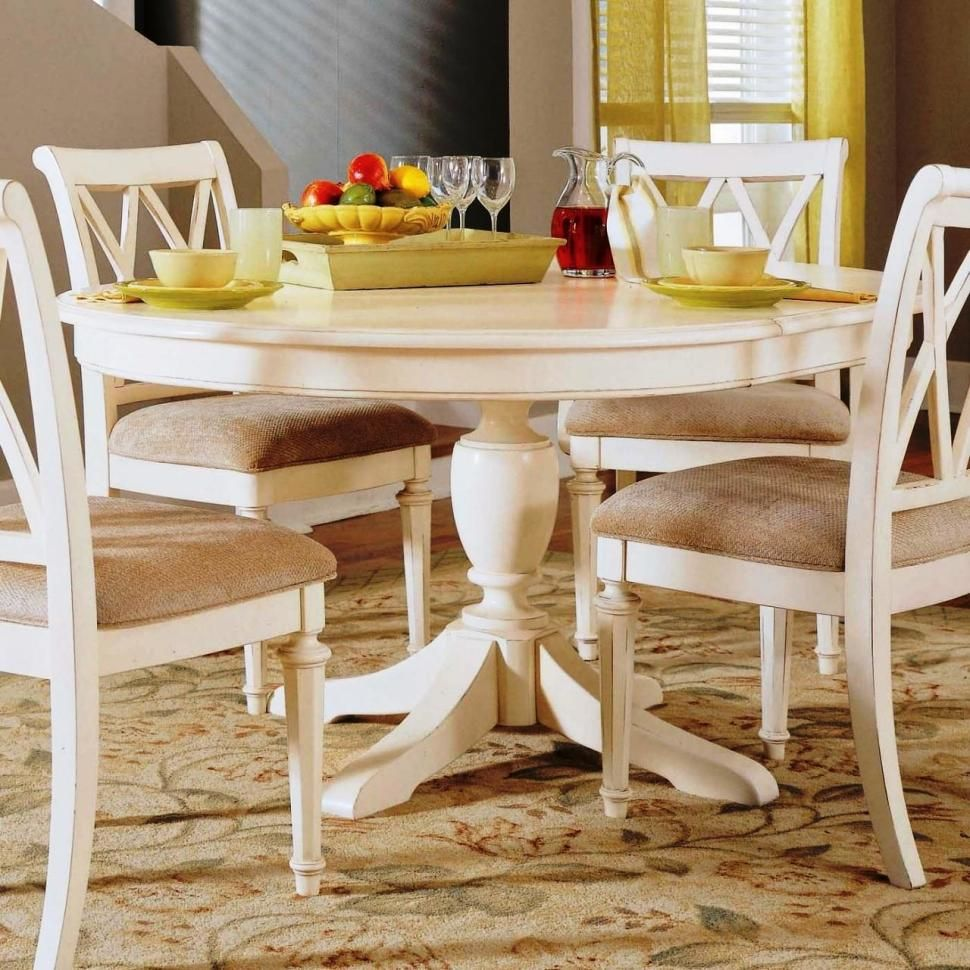 Interior or until piece dining set with exotic round dining