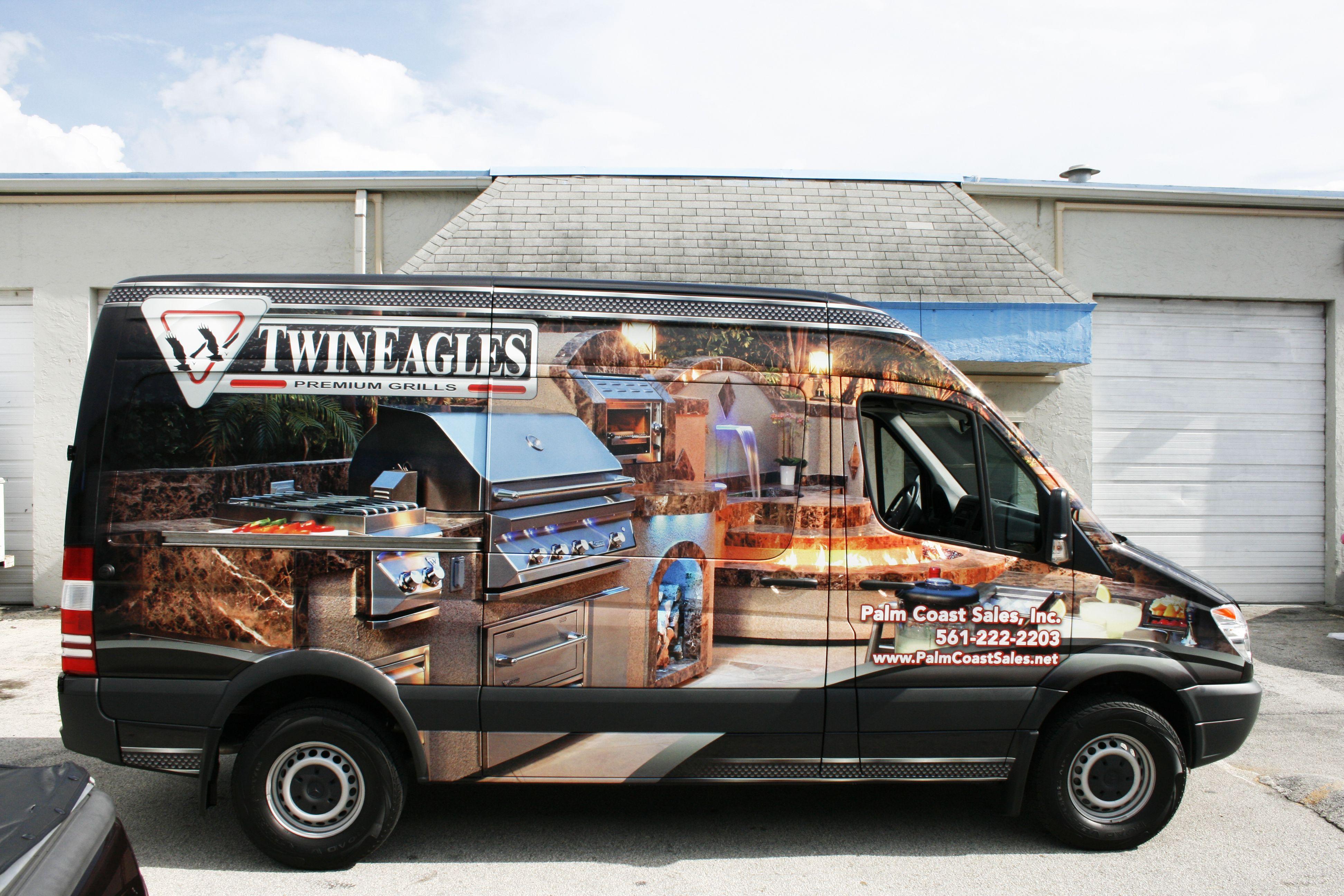 4628ccd3de Fort Lauderdale · Barbecue · Mercedes Sprinter 170 Van Vinyl Wrap Jupiter  Florida. Twin Eagles Barbecue and Palm Coast Sales