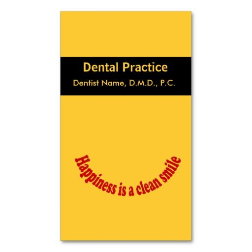 Dentist Oral Care Appointment Card Business Cards | Dental Business ...