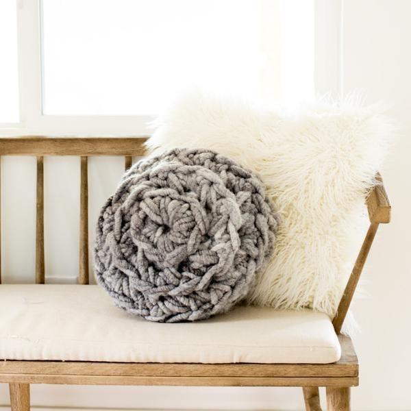 Hand Crochet Round Pillow Pattern | Häkelideen