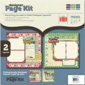 "We R Memory Keepers page kits. Each kit contains (2) solid cardstocks for background, (4) sheets of die-cuts, (1) 6""x12"" chipboard sheet and (1) package of glitter brads. Instructions included. $8.39"