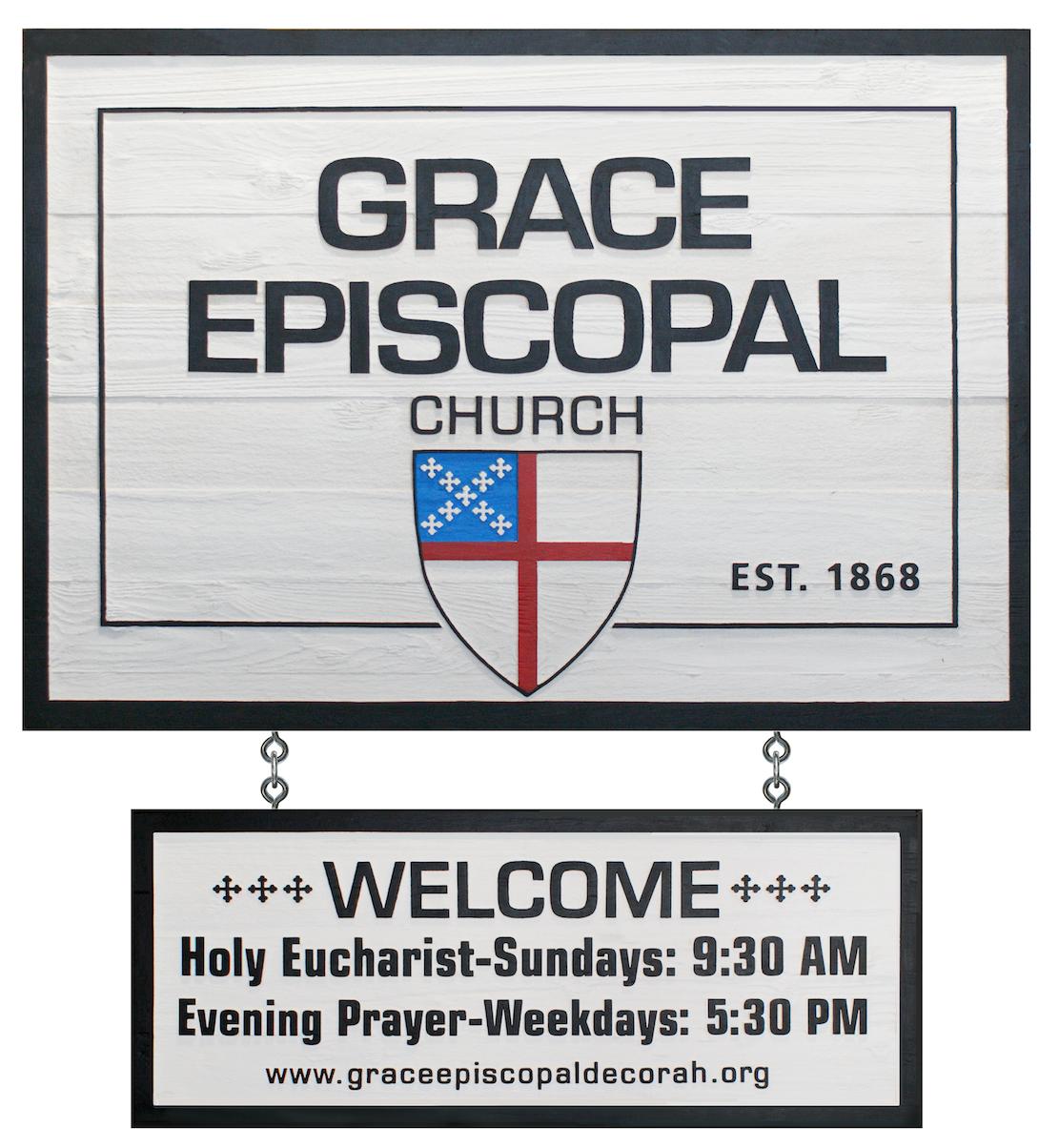 episcopal church sign by strata sandblasted wood signs www