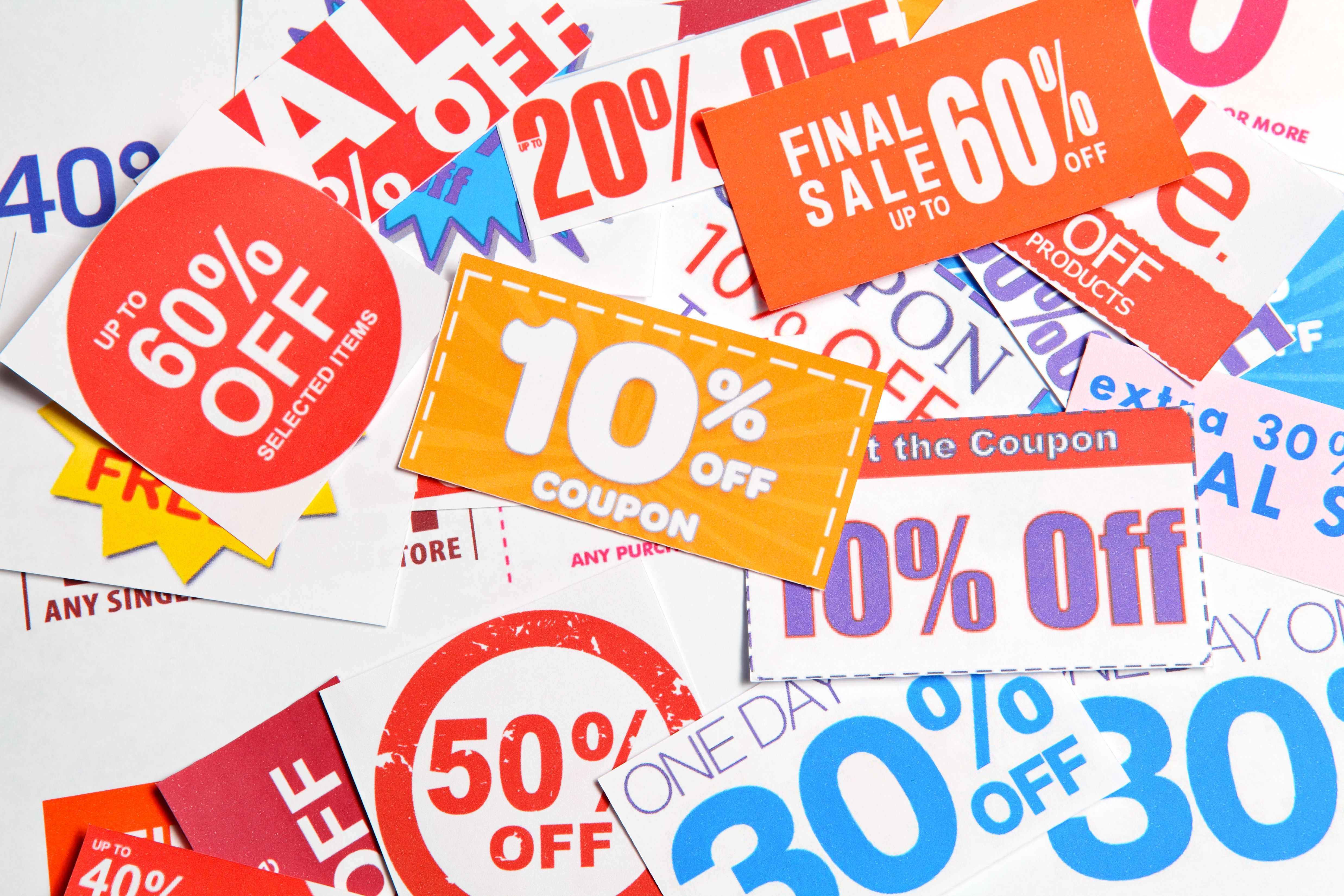 Printable online coupons, Promo codes