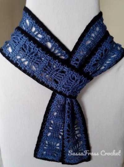 Free Crochet Skinny Scarf Pattern Using the Spider Stitch   Crotchet ...