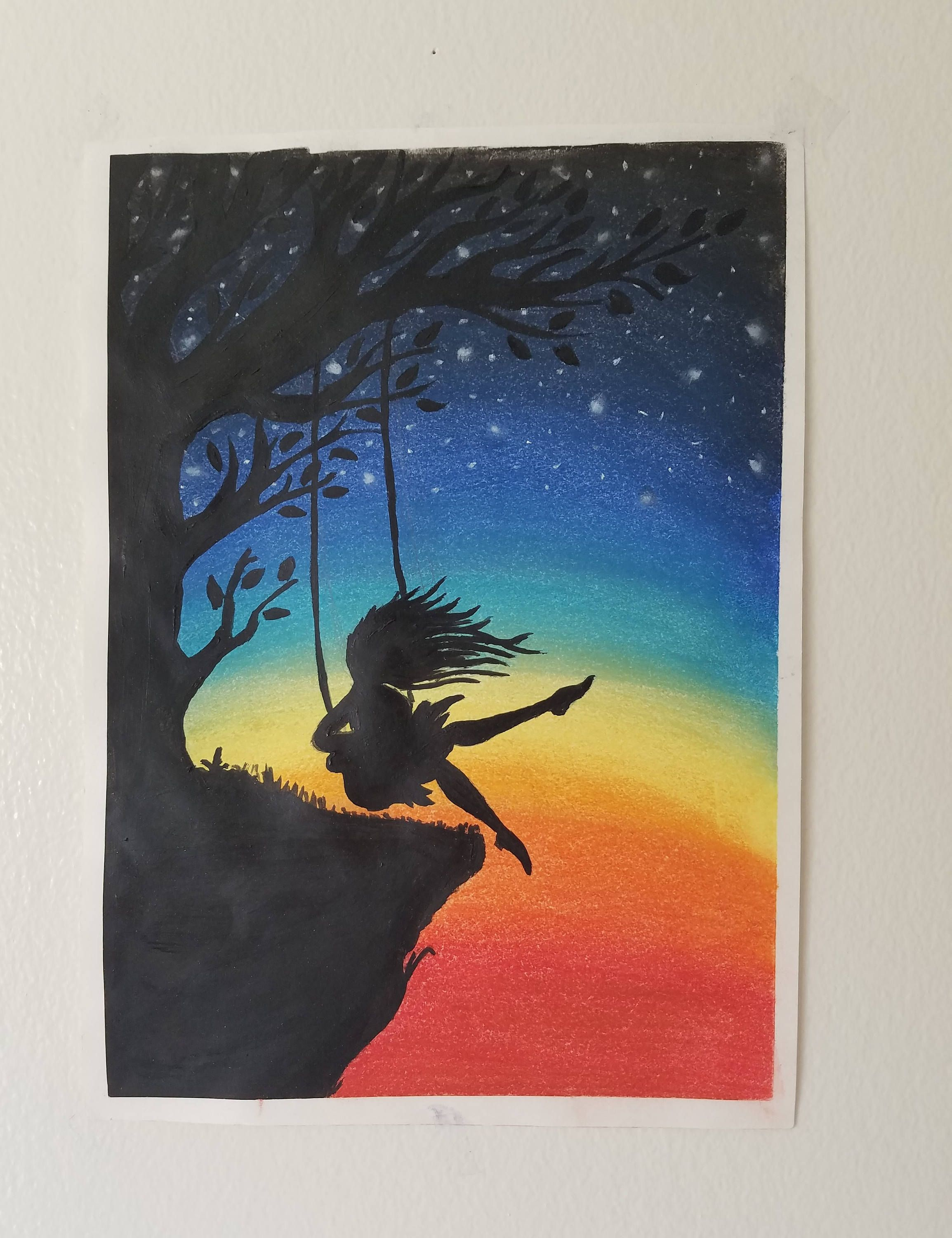 Excited To Share The Latest Addition To My Etsy Shop Girl On A Swing Soft Pastel Drawing Http Etsy Me Soft Pastels Drawing Chalk Pastel Art Soft Pastel Art