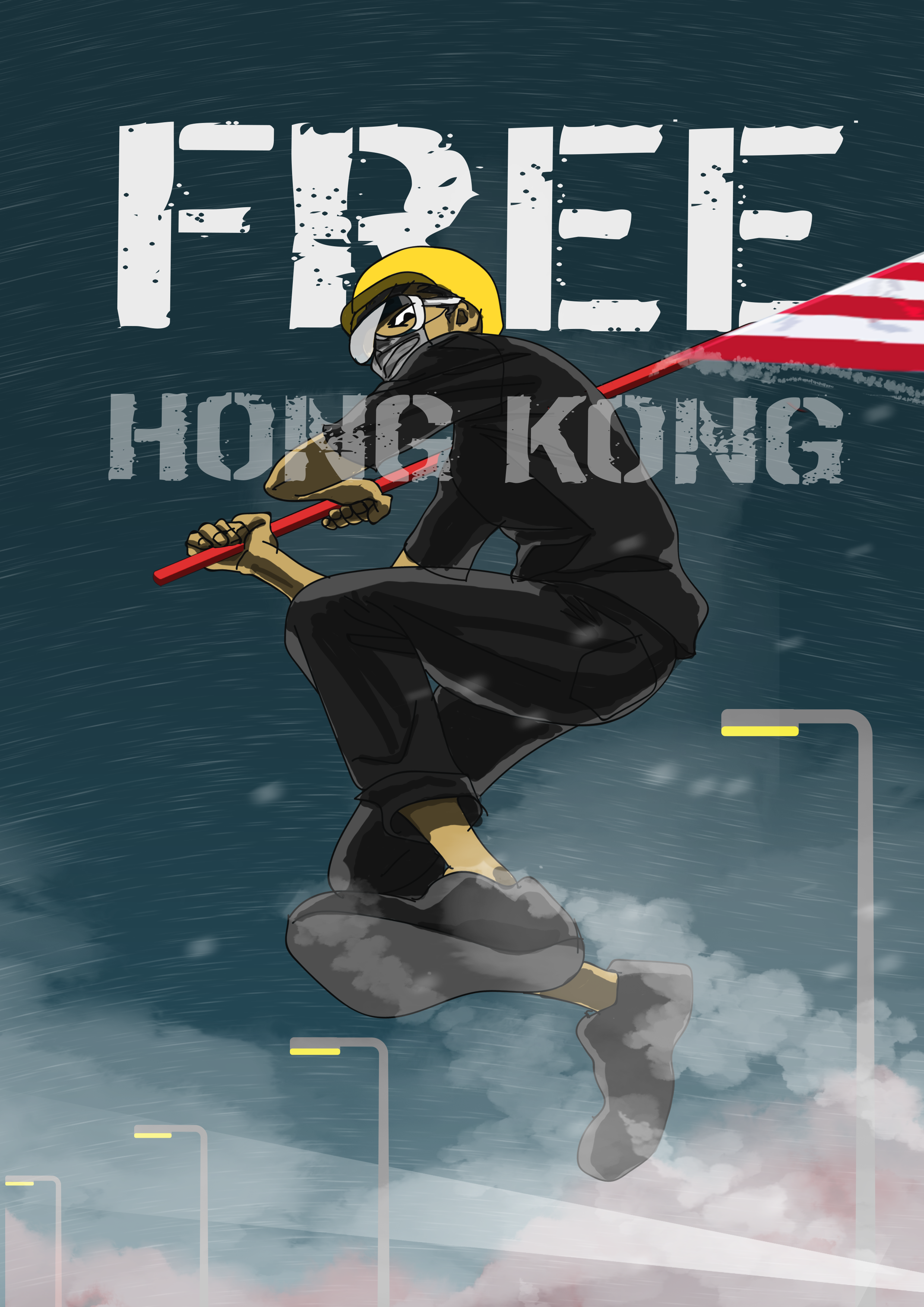 Hong Kong Protests 2019 Hong Kong Hong Kong Flag Protest Art