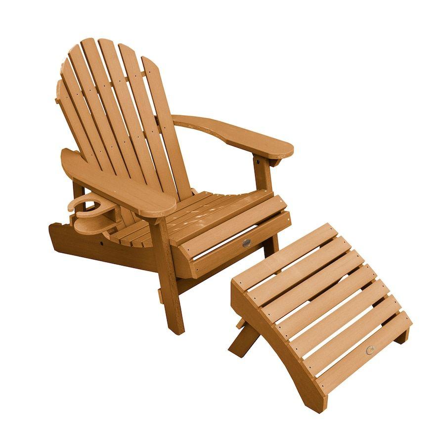 Highwood Hamilton Folding Reclining Adirondack Chair With Laptop