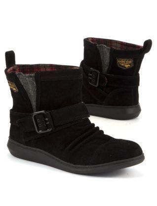 61e6766d5dc Black (Black) Rocket Dog Mint Black Short Buckle Boots | 259526101 ...