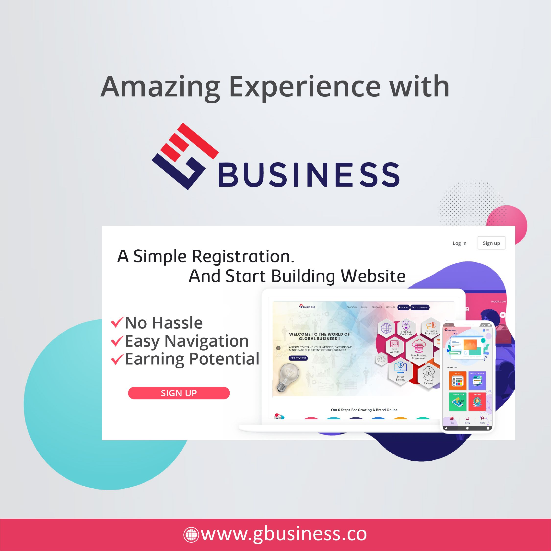 You Can Design Your Website Via Gbusiness Platform In The Easiest