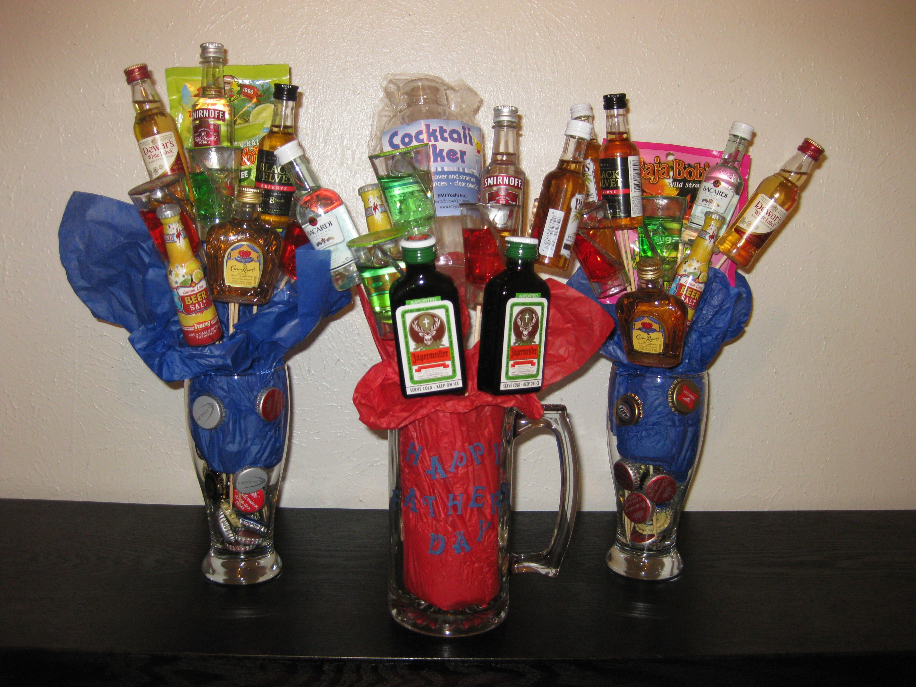 Pin By Shea Roberts On My Creations Liquor Bouquet Liquor Gift Baskets Liquor Gifts