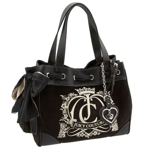 juicy couture day dreamer velour tote bag handbags and. Black Bedroom Furniture Sets. Home Design Ideas