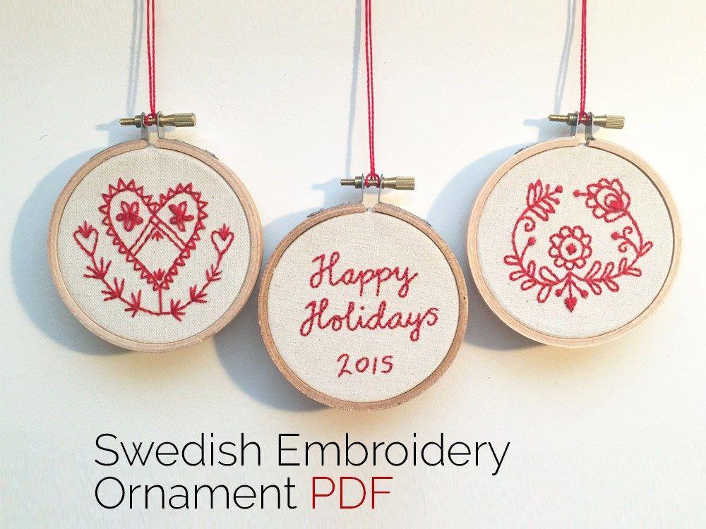 Stitcharama Swedish Embroidery Holiday Ornament Pattern