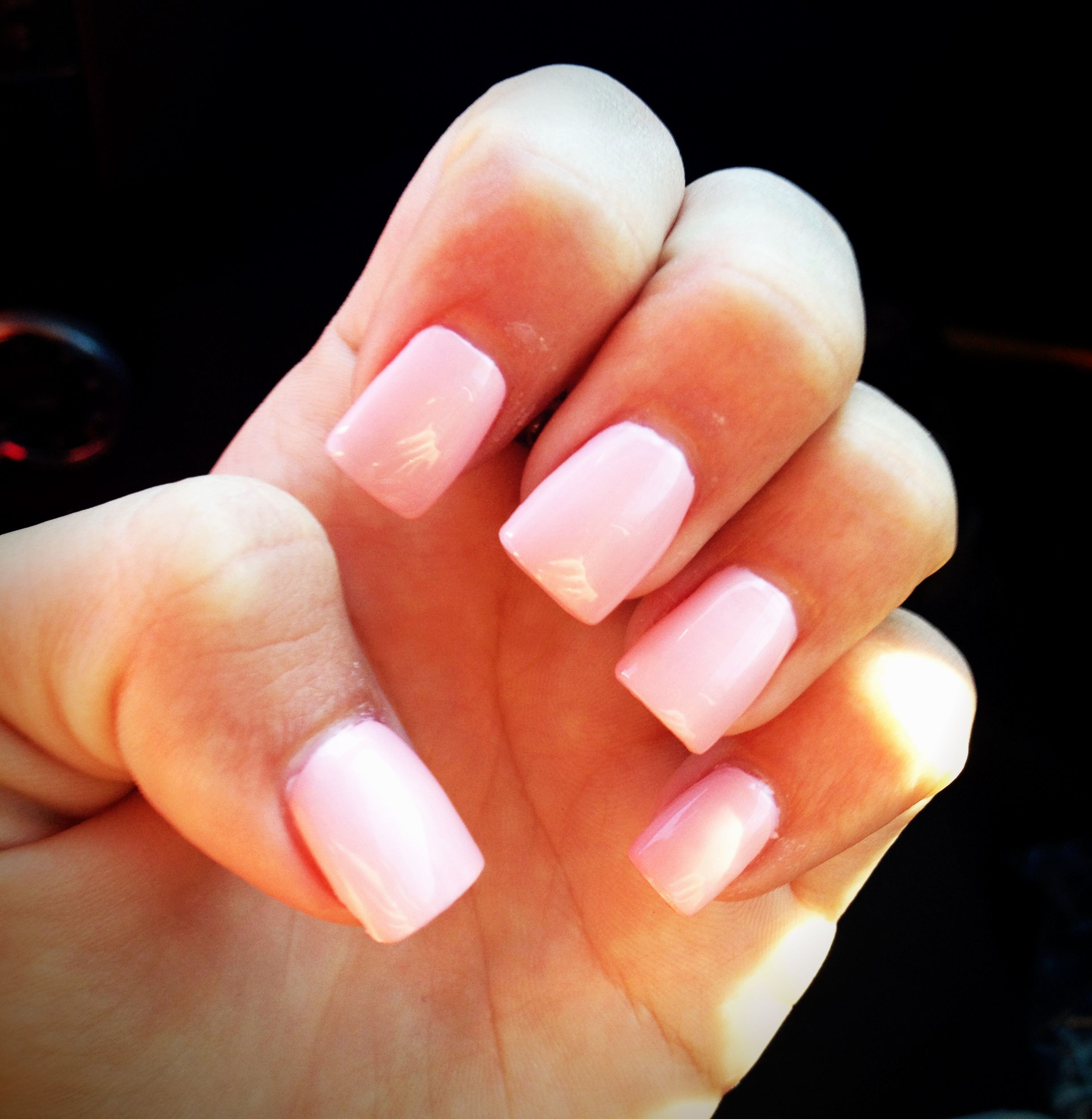 Squoval Silvers: Light Pink Acrylic Nails For Next Mani A Little Shorter