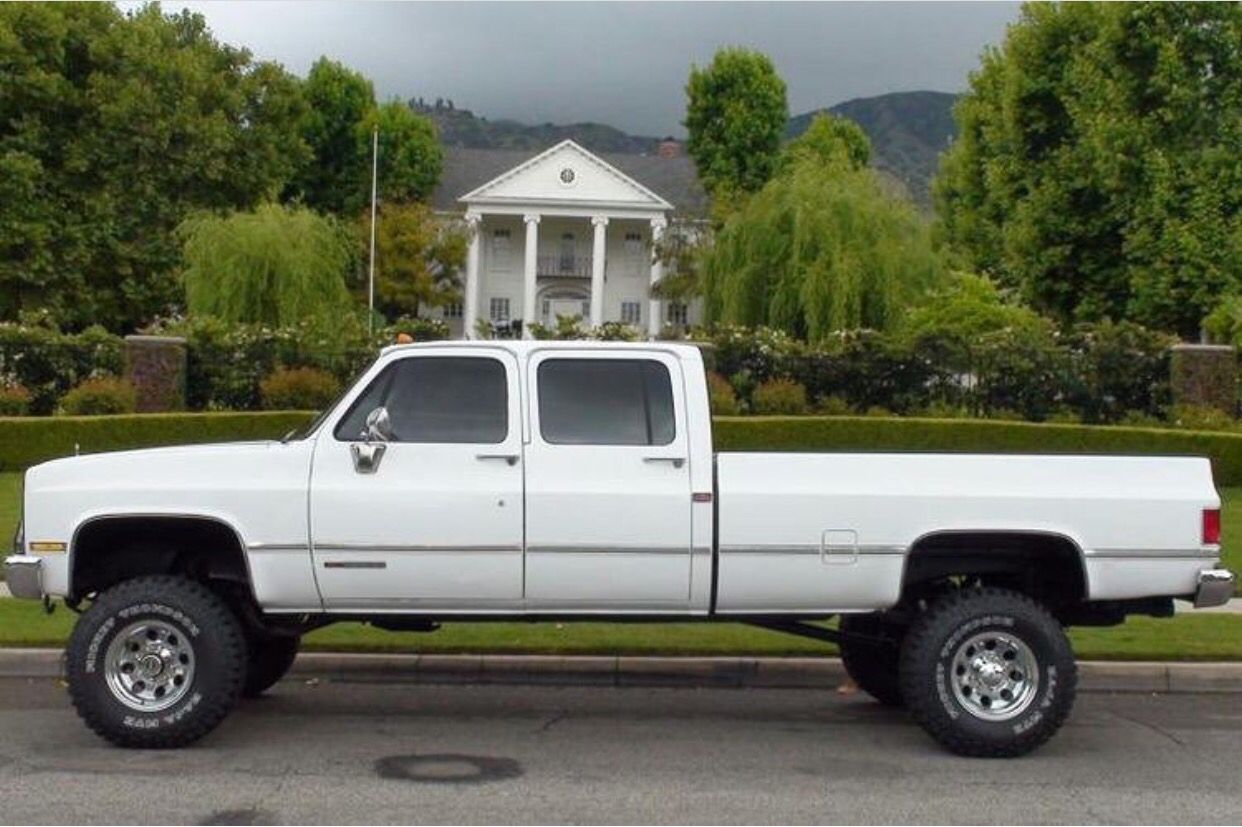 89 Chevy Scottsdale 2500 Crew Cab Long Bed Pickup Trucks Pinterest Cars Squares And 4x4