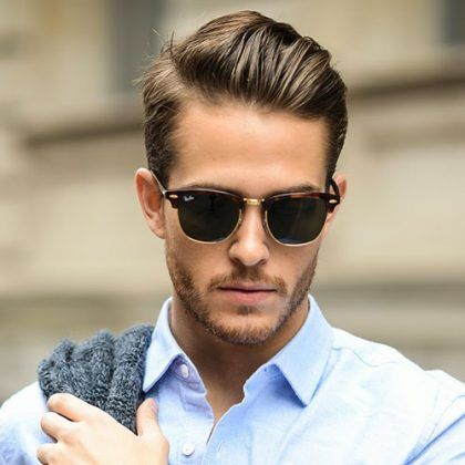 Professional Haircuts For Men   Short Sides With Brushed Back Hair