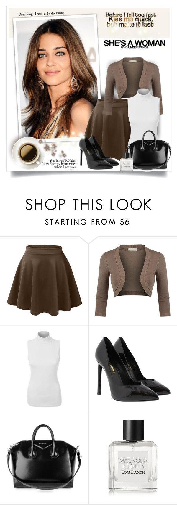 """""""She is a ...."""" by sneky ❤ liked on Polyvore featuring LE3NO, Yves Saint Laurent, Givenchy and Tom Daxon"""