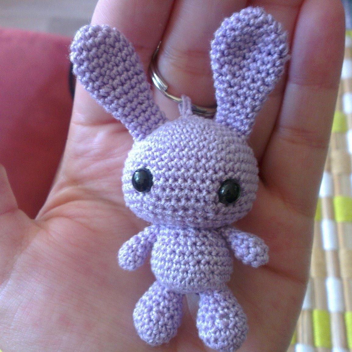 Porte clefs amigurumi lapin kawaii en coton crochet amigurumi tricot et crochet et porte - Porte cle crochet ...