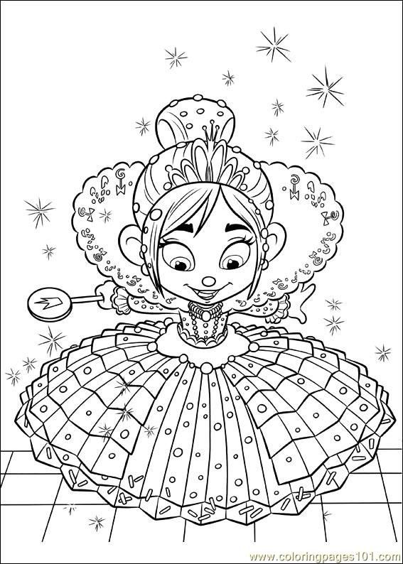 Wreck It Ralph Color Page Printable Coloring Page Wreck It