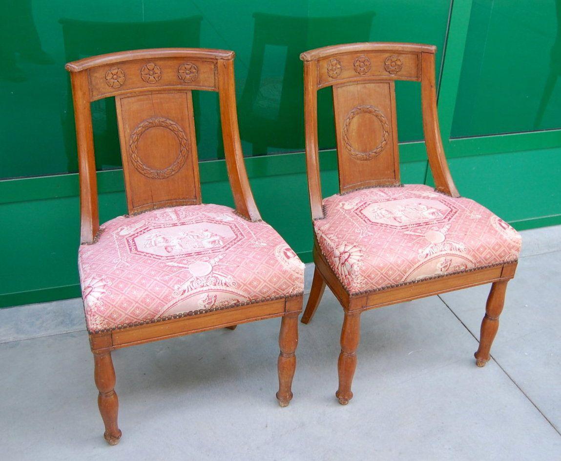 Sedie Barocche ~ Coppia sedie a gondola gondoline impero prima metà 800