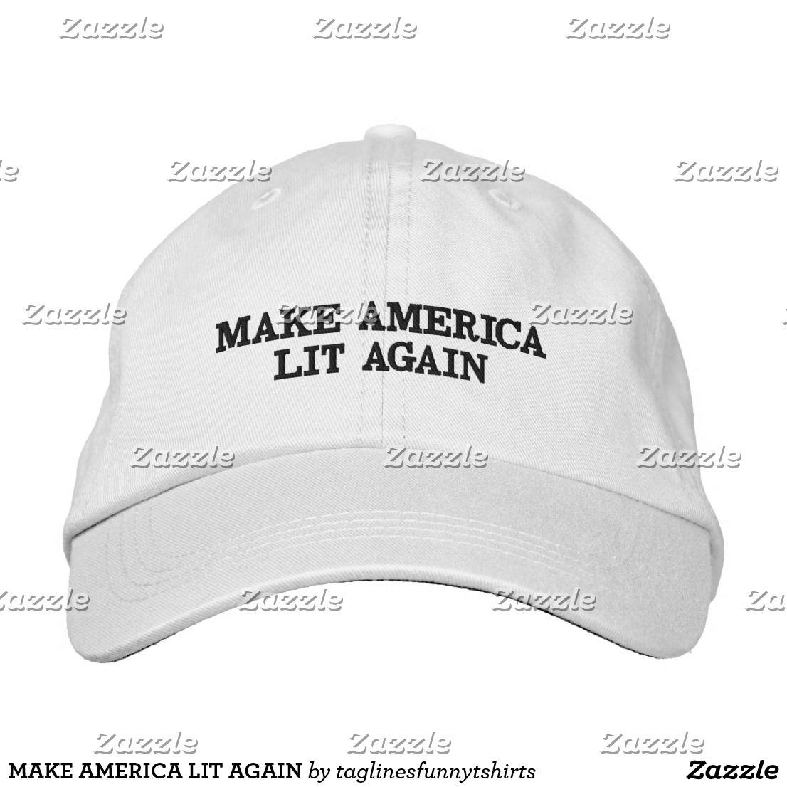 b7197eedfd8 MAKE AMERICA LIT AGAIN EMBROIDERED BASEBALL CAP. AMERICAN FLAG. AMERICAN  PRIDE. 4TH OF JULY OUTFIT IDEA. GOD BLESS AMERICA