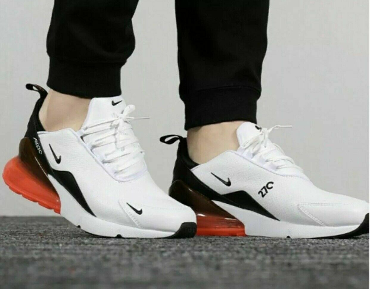 mens nike white leather sneakers