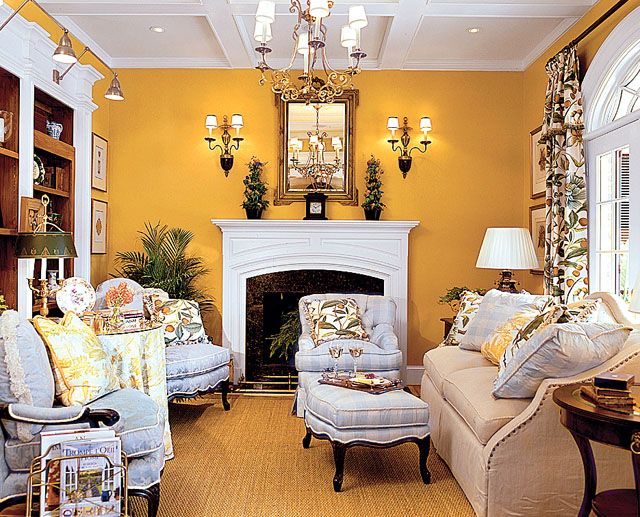 Formal Living Room From Southern Living Yellow Living Room