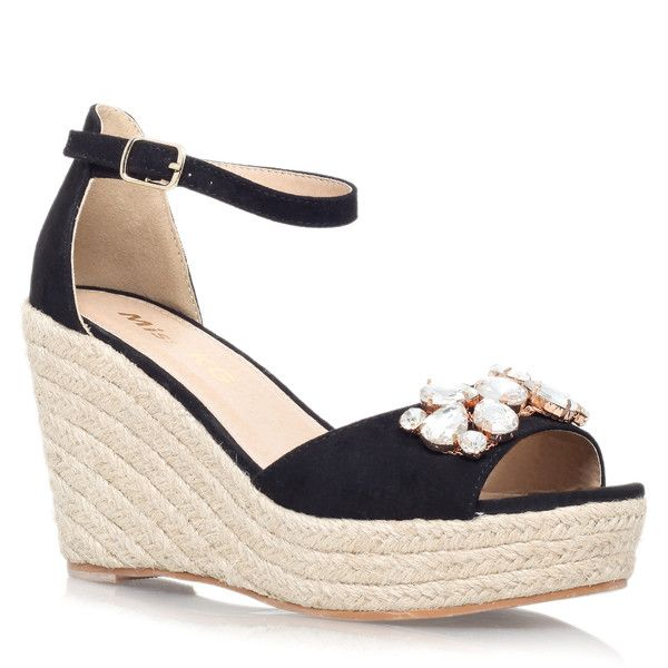 Miss KG Lucie Sandals ($59) ❤ liked on Polyvore featuring shoes, sandals, black, miss kg shoes, kohl shoes, black sandals, black shoes and miss kg