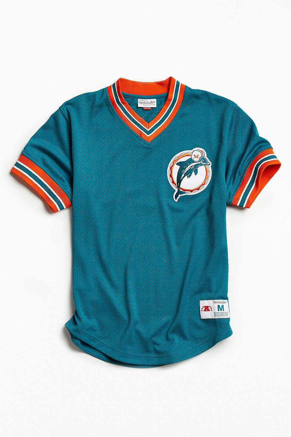 Mitchell & Ness NFL Miami Dolphins Mesh V-Neck Top